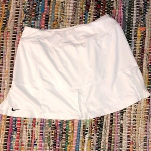 Pleated White tennis skirt
